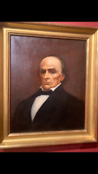 200 year old oil painting of Daniel Webster by William Sharp $2500.00