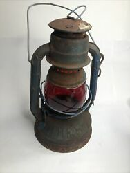 Dietz Little Wizard with Ruby Red Globe NY USA $99.00