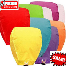 10pcs Paper Chinese Lanterns Assorted Colors for Wish Birthday Wedding $28.80