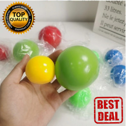 45mm luminescent Stiky Balls Throw At Ceiling Stick Wall Target Ball Kids toys $5.00