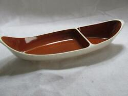Vintage Taylor Smith Taylor China Autumn Harvest Divided Pickle Dish NM $19.95