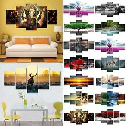 5pcs Unframed Large Modern Art Oil Painting Print Canvas Picture Wall Bedrooms $20.80