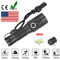 Most powerful 90000LM LED Flashlight On or off click Telescopic focusing JM $16.29