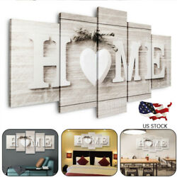 5PCS Concise Fashion Wall Paintings Home Letter Printed Photo Art Wedding Decor $13.99