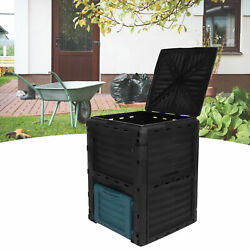 300L 79 Gallon Composting Bin Outdoor Garden Waste Box Large Compost Container $93.01