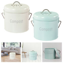 Compost Bin Countertop Indoor Farmhouse Compost Pail Rust Proof Easy Clean $35.36