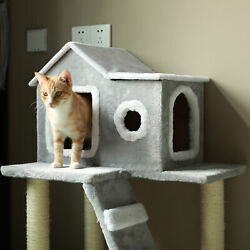 Cat Tree Condo Tower Kitty Trees House Bed Furniture with Scratching Posts $54.99