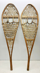 Antique Vintage 12quot; X 42quot; Snowshoes For Decor or Arts amp; Craft FREE SHIPPING $69.99