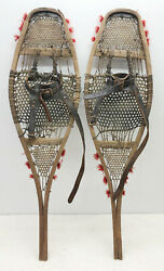Old Antique 9quot; X 33quot; Child Snowshoes for Decor or Arts amp; Craft FREE SHIPPING $89.99