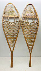 Antique Vintage 13quot; X 43quot; Snowshoes For Decor or Arts amp; Craft FREE SHIPPING $69.99