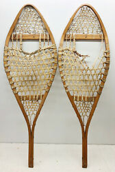 Antique Vintage 14quot; X 41quot; Snowshoes For Decor or Arts amp; Craft FREE SHIPPING $69.99