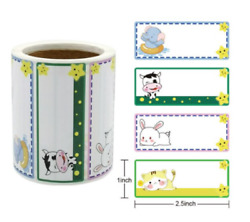 30 KIDS NAME CARTOON TAG ENVELOPE SEALS LABELS STICKERS 2.5quot; FREE SHIPPING $3.50