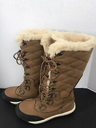 Bear paw Isabella Boots 14quot; Tall Brown Winter Snow w Wool Blend Lining Size 8 $49.99