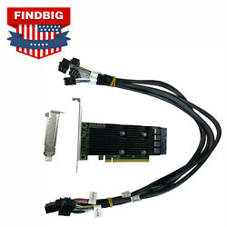 Dell PowerEdge R630 R730 T630 SSD NVMe PCIe Extender Expansion Card amp; SAS Cables $229.99