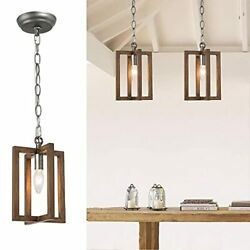 Farmhouse Pendant Lighting for Kitchen Island Wood Rustic for Dining Room $79.62