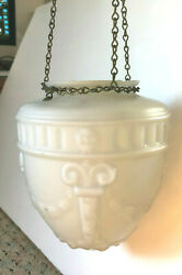 White Glass Hanging shade Classical design swags with Chain hanging piece $44.00