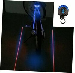 2 Laser 5 LED 7 Modes Super Lighting Cycling Bicycle Bike Taillight Blue