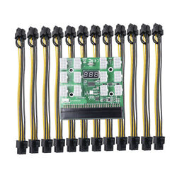 12 PCI E Connector Breakout Board for HP Server Ethereum DPS 1200FB QB $15.02