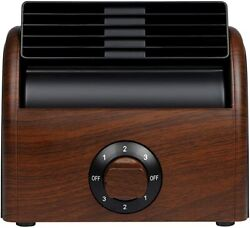 Desk Fan Personal Quiet Powerful Small Table Fans Retro Bladeless Fans for Home $26.99