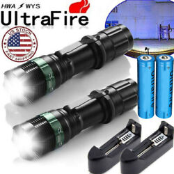 350000Lumens Tactical Zoomable Focus LED Flashlight Super Bright Torch Light USA $20.05