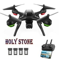 Holy Stone RC Drone with 2K HD Camera FPV 4 Batteries Quadcopter GPS Return Home $94.05