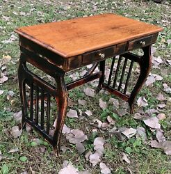 """32"""" L. Folk Art Shab ChIc FRENCH COUNTRY Antique Desk Nightstand Side Sofa Table $895.00"""