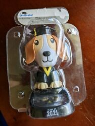 6 in Large Solar Powered Dancing Toy Bobble Head Graduation Dog Class Of 2021