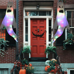 Halloween Hanging Ghost Windsock Outdoor Holiday Party Decoration White $12.59