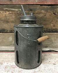 DANDY Galvanized Tin Metal Kerosene Oil Vintage Style Glass Container amp; Can $47.60