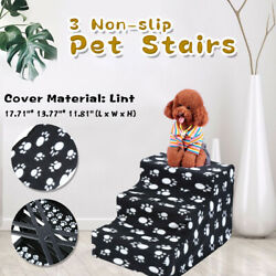 Dog Steps For High Bed 3 Steps Pet Stairs Small Dogs Cats Ramp Ladder $22.99