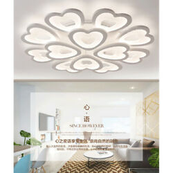 LED Chandeliers Heart Warm Cool Neutral Light Acrylic Ceiling Home Lights Living
