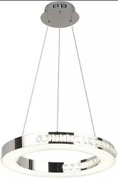 Modern Dimmable LED Chandelier Fixtures Round Hanging Lamps 1 Ring 15.57quot; Dia. $218.00