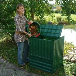 Outdoor Composting 110 Gallon Composter Recycle Plastic Compost Bin Green $213.66