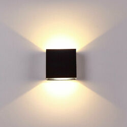 6W Modern COB LED Wall Light Outdoor Indoor Up Down Cube Lamp Exterior lights