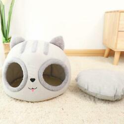 Cat Head Shaped Washable Winter Durable Pet Beds for Cat or Small Dogs Durbale $13.10