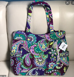 NEW Vera Bradley Pleated Large Tote in Heather purple Large Tote BAG Free ship $39.00