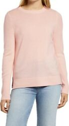 NWT Halogen Crewneck Cashmere Sweater in Pink Size L Retail $98 $49.97