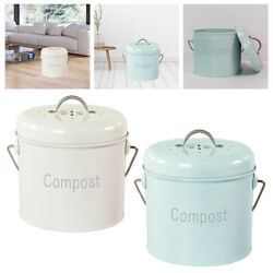Compost Bin Countertop Farmhouse with Carrying Handle Rust Proof Easy Clean C $59.43