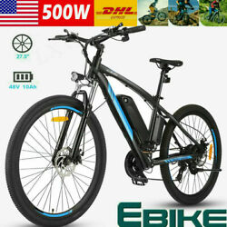 Electric Bike48V 500W Ebike 27.5quot; Electric Mountain Bike with RemovableBattery $909.99