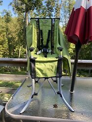 Vintage Green EVENFLO BABY GO Folding HIGH CHAIR Travel Camping $63.00