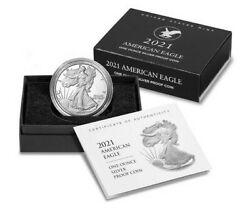 2021 W PROOF SILVER EAGLE HERALDIC T 2 PURCHASED DIRECTLY FROM US MINT $129.95