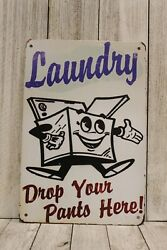 Laundry Room Tin Sign Poster Wall Art Decor Vintage Ad Style Look Rustic $9.72