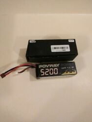 POVWAY 5200mAh 3s LiPo Battery 50C 11.1 RC Battery Hard Case for RC Cars $15.00