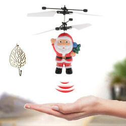 Hand Sensor Flying UFO Mini Induction Santa Claus RC Drone Helicopter Toy $12.85