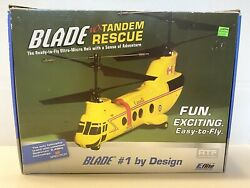 E Flite Blade MCX Tandem Rescue 4 Channel R C Helicopter TESTED $134.99