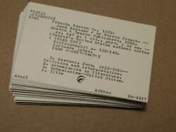 Vintage School Library Catalog Cards Unique Craft Altered Art 3quot; x 5quot; lot of 50 $6.00