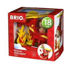 BRIO 4 Piece Rescue Helicopter Toddler Play Toy $19.99