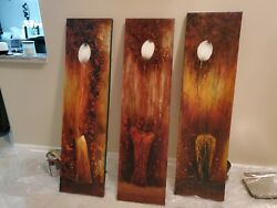 wall art canvas paintings abstract $150.00