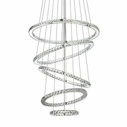 Crystal Chandeliers Modern LED Ceiling Lights Fixtures Pendant Lighting 31.5quot; $685.45