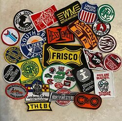 25 assorted NEW Railroad patches assortment #1 $24.99
